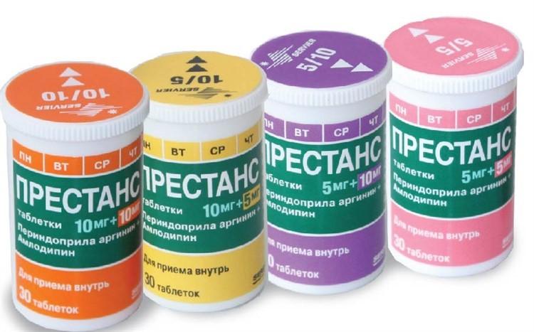 Престанс (таблетки 5 + 5, 5 + 10, 10 + 10, 10 + 5 мг ...